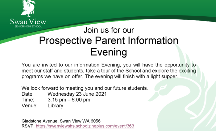 2021 Prospective Parent Evening